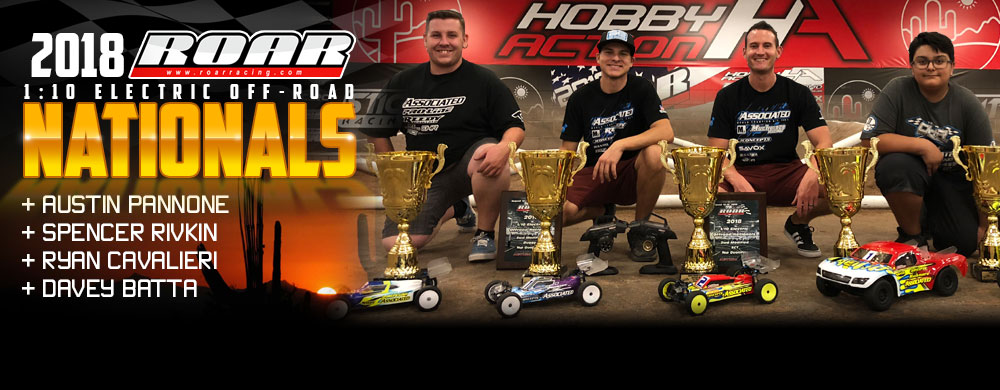 5-way sweep of the R.O.A.R. 1:10 Electric Offroad Nats