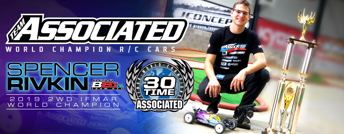 Spencer Rivkin and Team Associated 2019 IFMAR 2WD World Champions