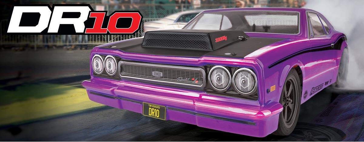 DR10 Drag Race Car RTR, purple