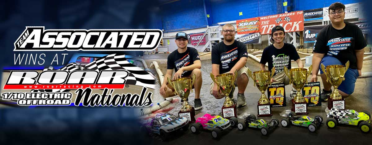 Team Associated Wins Five National Titles at ROAR 1:10 Electric Off-Road Nats
